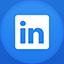 Linkedin flat circle icon