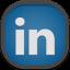 Linkedin Flat Round icon