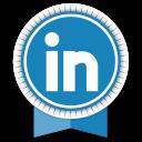 Linkedin Round Ribbon-128