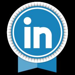 Linkedin Round Ribbon