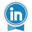 Linkedin Round Ribbon icon