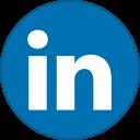 Linkedin Round With Border-128