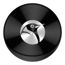 Linux Black Drive Circle-128