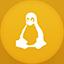 Linux flat circle icon